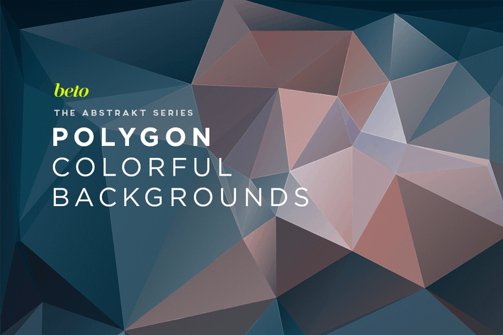 Cover Image For Polygon Abstract Backgrounds V8