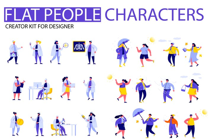 Cover Image For Modern Flat Cartoon People Character