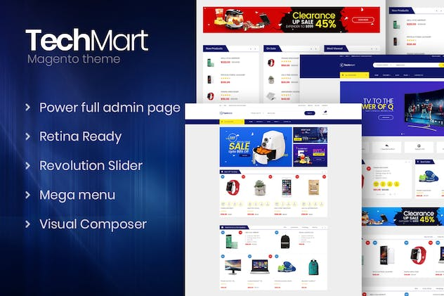 Techmart - Multi-Purpose Responsive Magento2 Theme - product preview 0
