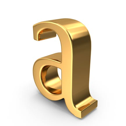 Gold Small Letter A