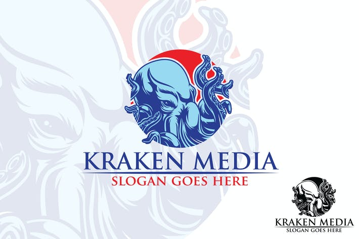 Thumbnail for Kraken Media Vector Logo Mascot