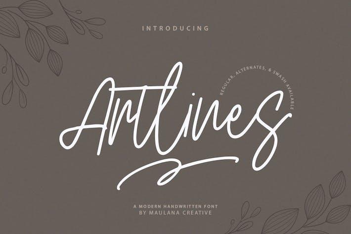 Thumbnail for Artlines - Modern Handwritten Font