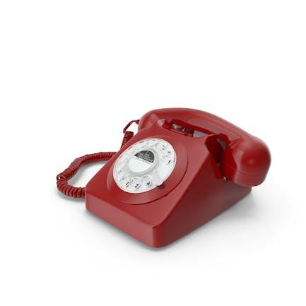 Teléfono fijo con cable de diseño retro
