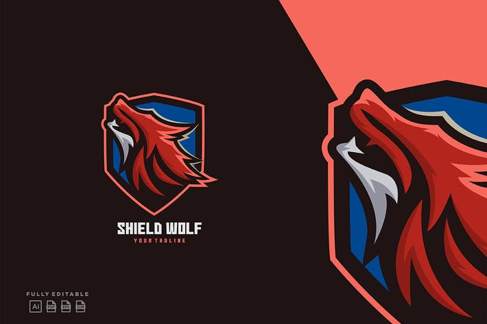 Thumbnail for Fox Shield Logo Templates