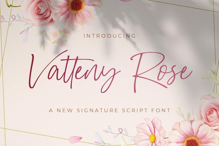 Vatteny Rose - Signature Script Font