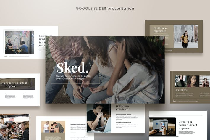 Thumbnail for Sked - Elegant Digital Agency Google Slides