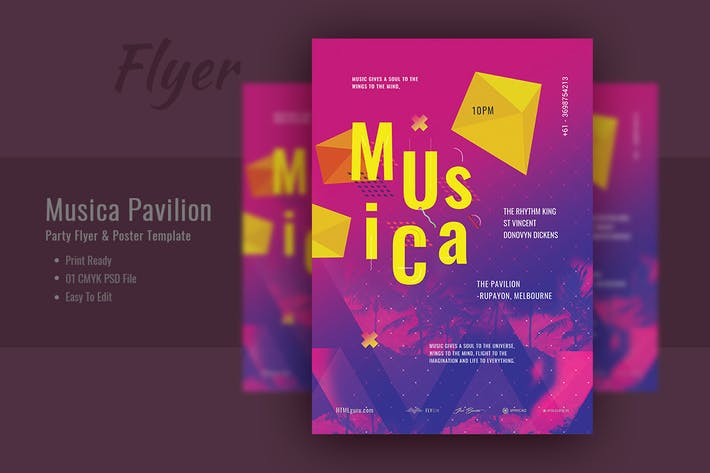 Thumbnail for Musica Pavilion Party Flyer & Poster Template