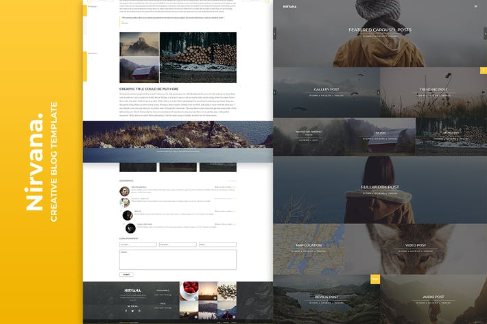 Cover Image For Nirvana Creative Blog Template