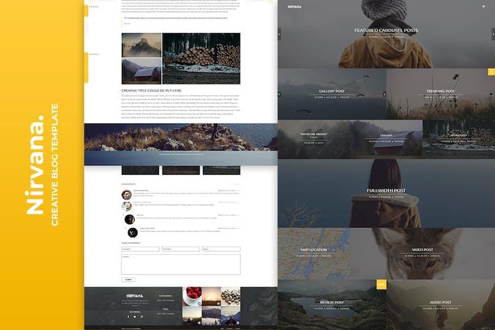 Thumbnail for Modèle de blog créatif Nirvana
