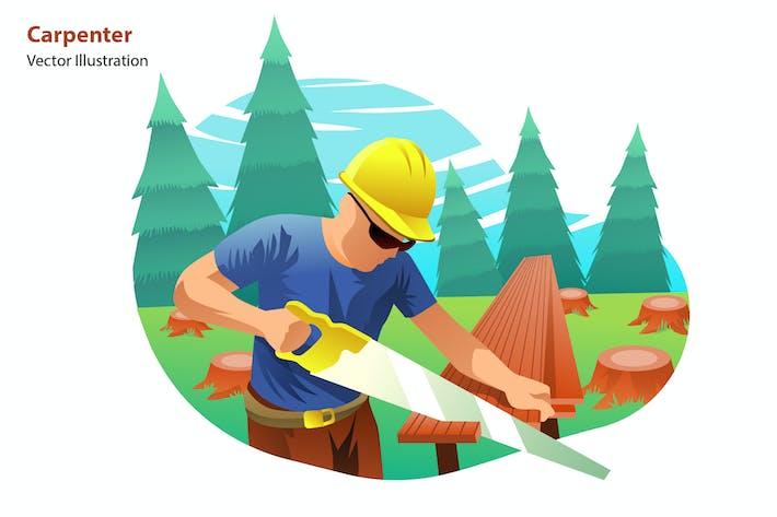 carpenter - Vector Illustration