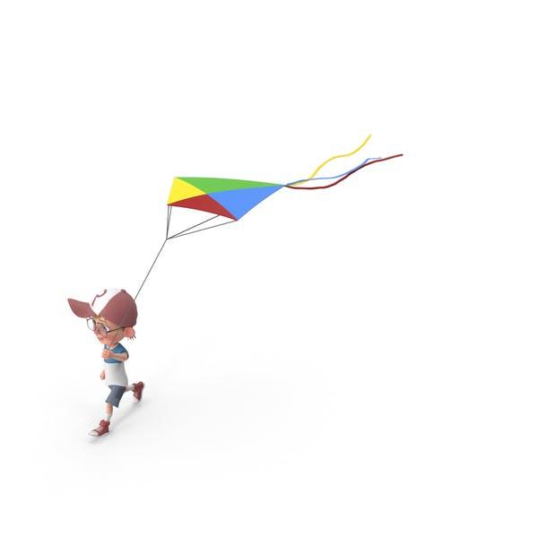 Thumbnail for Cartoon Boy Harry Flying Kite
