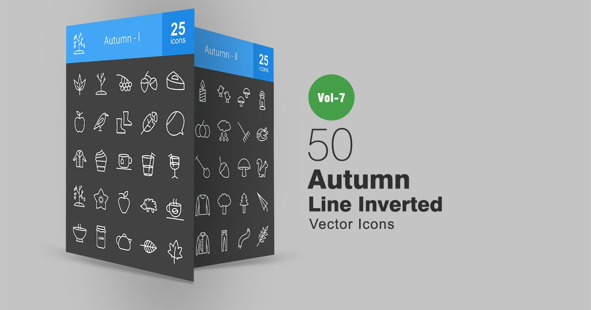 Download 50 Autumn Line Inverted Icons by Unknow