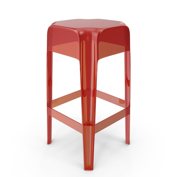 Thumbnail for Red Plexiglass Bar stool