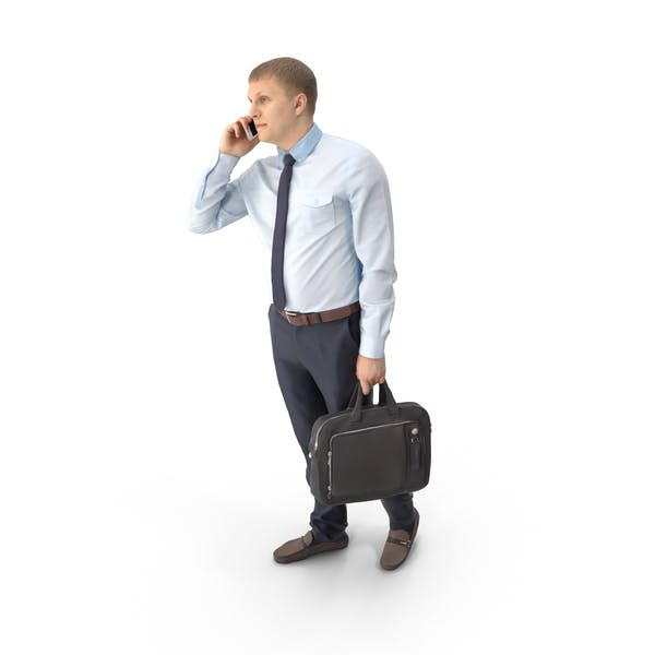 Business Man Talking on Phone