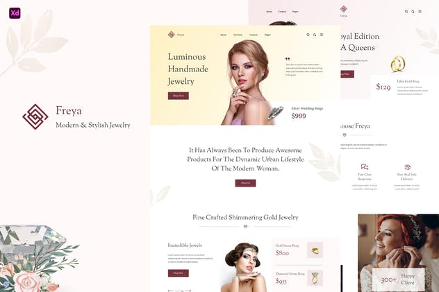 Freya - Jewellery Store Website & UI Kits