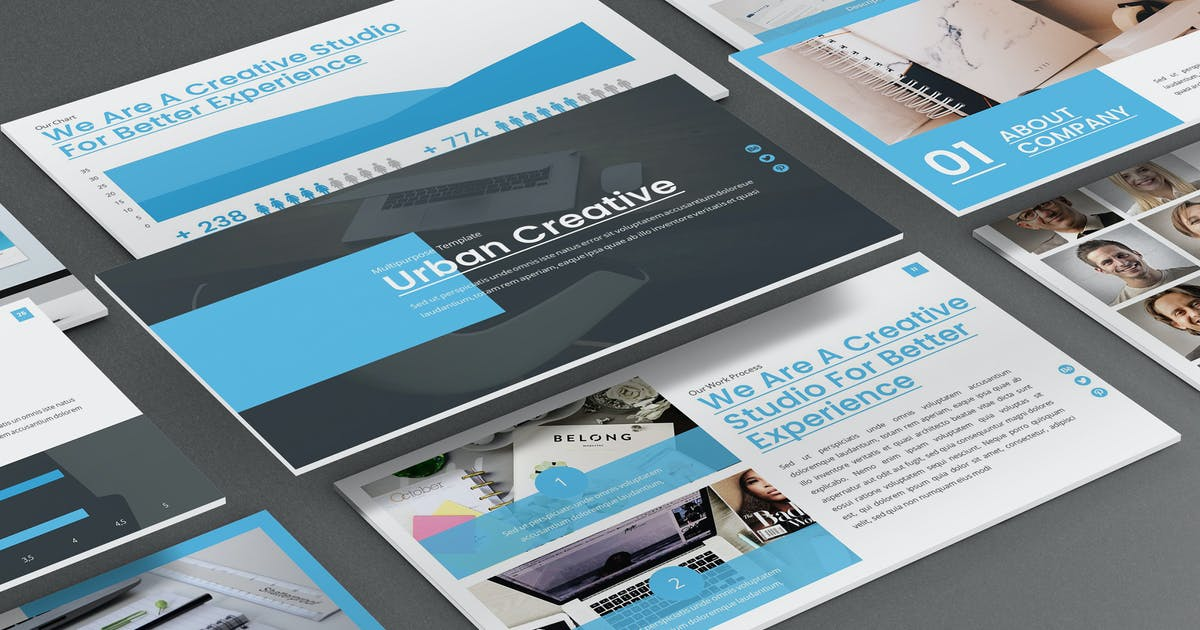 Urban - Creative Agency Powerpoint Template by SlideFactory