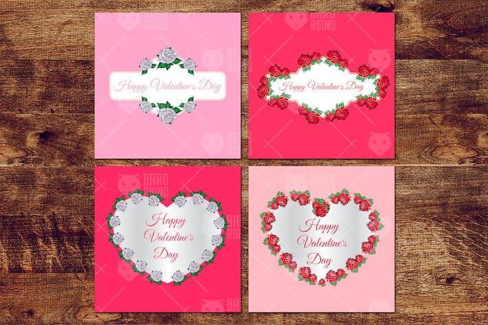 Thumbnail for Valentinstag Blumen Rahmen
