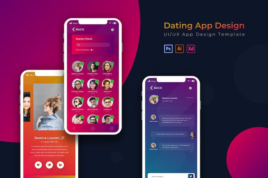 Date | App Design Template