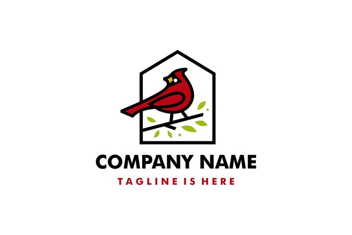 Cardinal House Home Roof Mortgage Line Color Fill