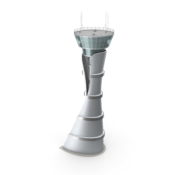 Airport Air Traffic Control Tower with Interior Generic