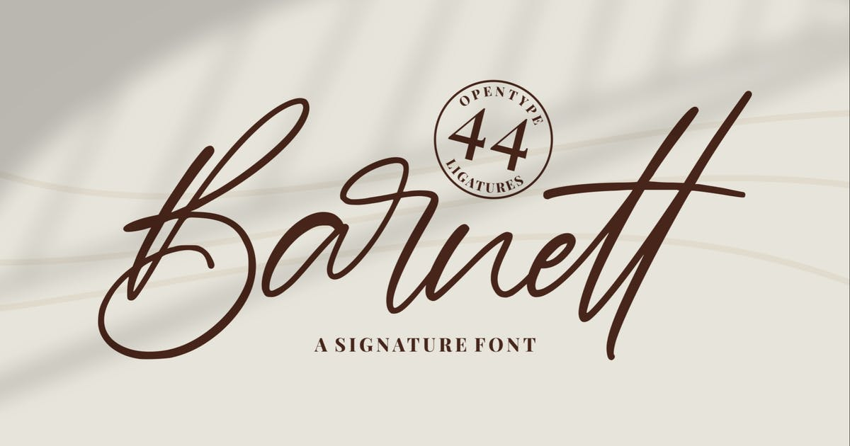 Download Barnett - Signature Font by garisman