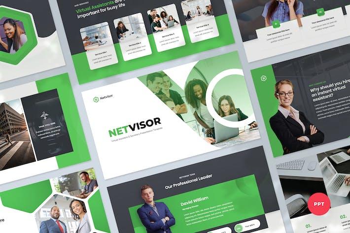 Thumbnail for Virtueller Assistent PowerPoint Vorlage präsentation