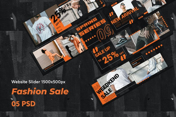 Thumbnail for Creative Fashion Sale Website Slider
