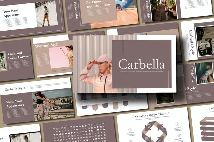 Thumbnail for КАРБЕЛЛА - Мода Google Слайды Шаблон