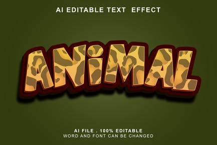 Animal 3d Text Effect