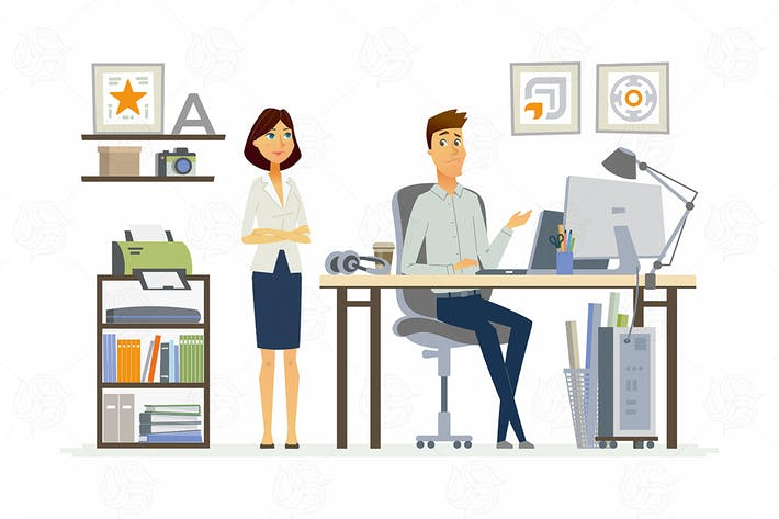 Thumbnail for Correcting Mistakes - vector illustration