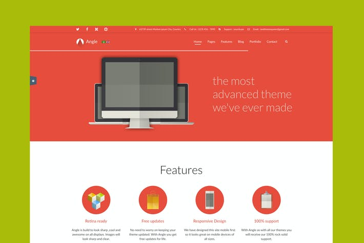 Thumbnail for Angle - Responsive MultiPurpose Joomla Theme