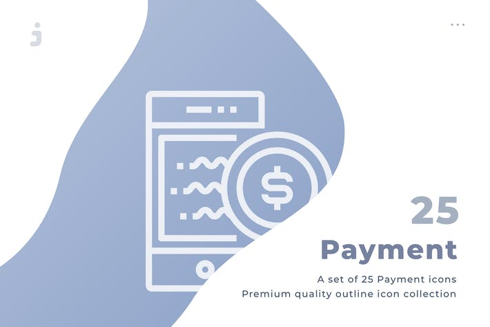 25 Payment icon set