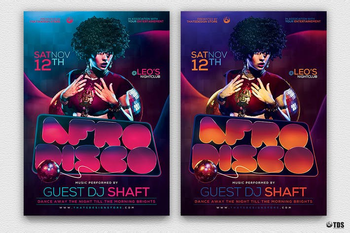 Afro Disco Flyer Template by lou606 on Envato Elements