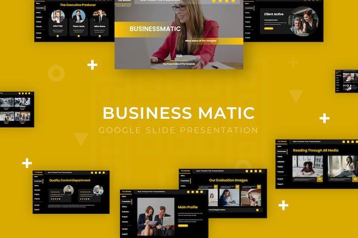 Thumbnail for Businessmatic - Google Slide Template
