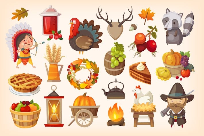 Thumbnail for Thanksgiving Day Icons