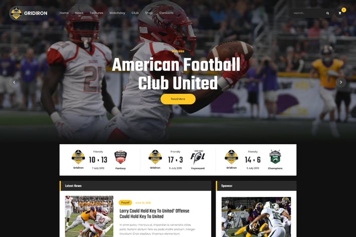 Gridiron | American Football & NFL Team WordPress