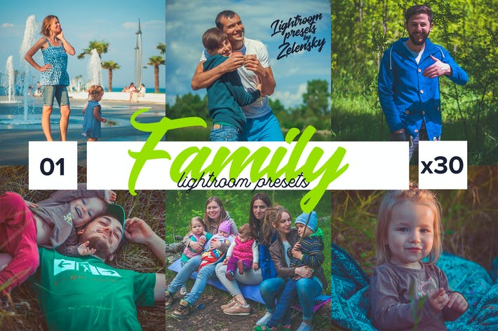 Thumbnail for Family Lightroom Presets by Zelensky