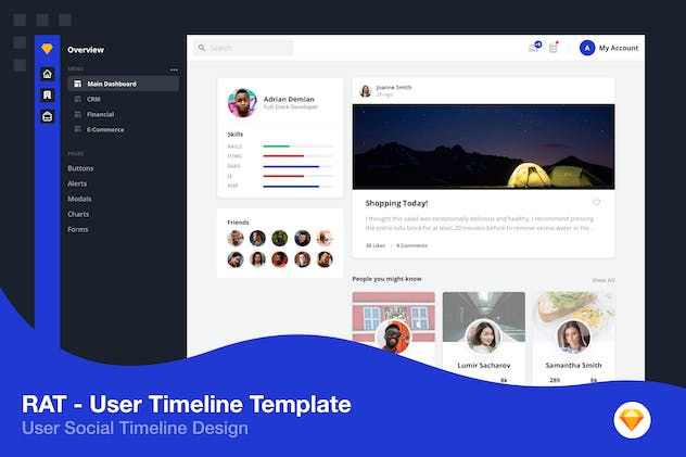 User Timeline Social Profile
