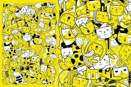Cute Cats Vector Art