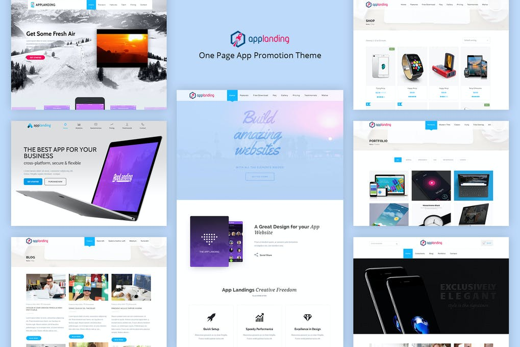 App Promotion-One-Page-App-romotion-Theme-www.mockuphill.com