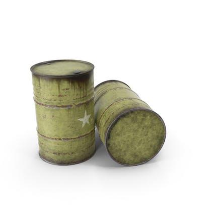 Barriles de acero del ejército