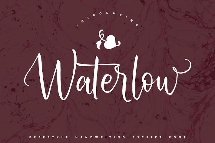 Thumbnail for Waterlow | Police de script d'écriture manuscrite
