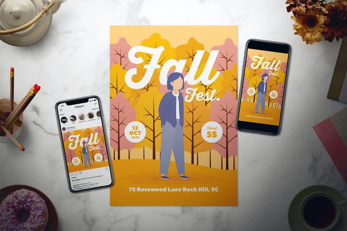 Thumbnail for Fall Flyer Set