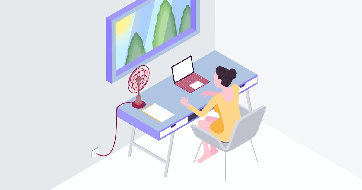 Download Smart Mirror Workspace Isometric Illustration by angelbi88
