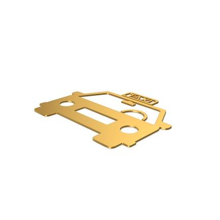 Gold Symbol Taxi