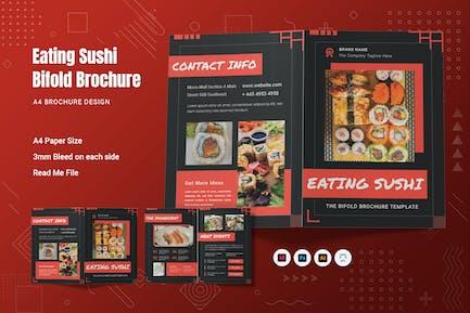 Eating Sushi Bifold Brochure