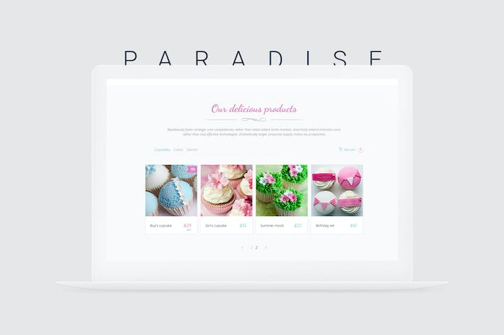 Thumbnail for Paradise Cakes - Sweet eCommerce Landing Page