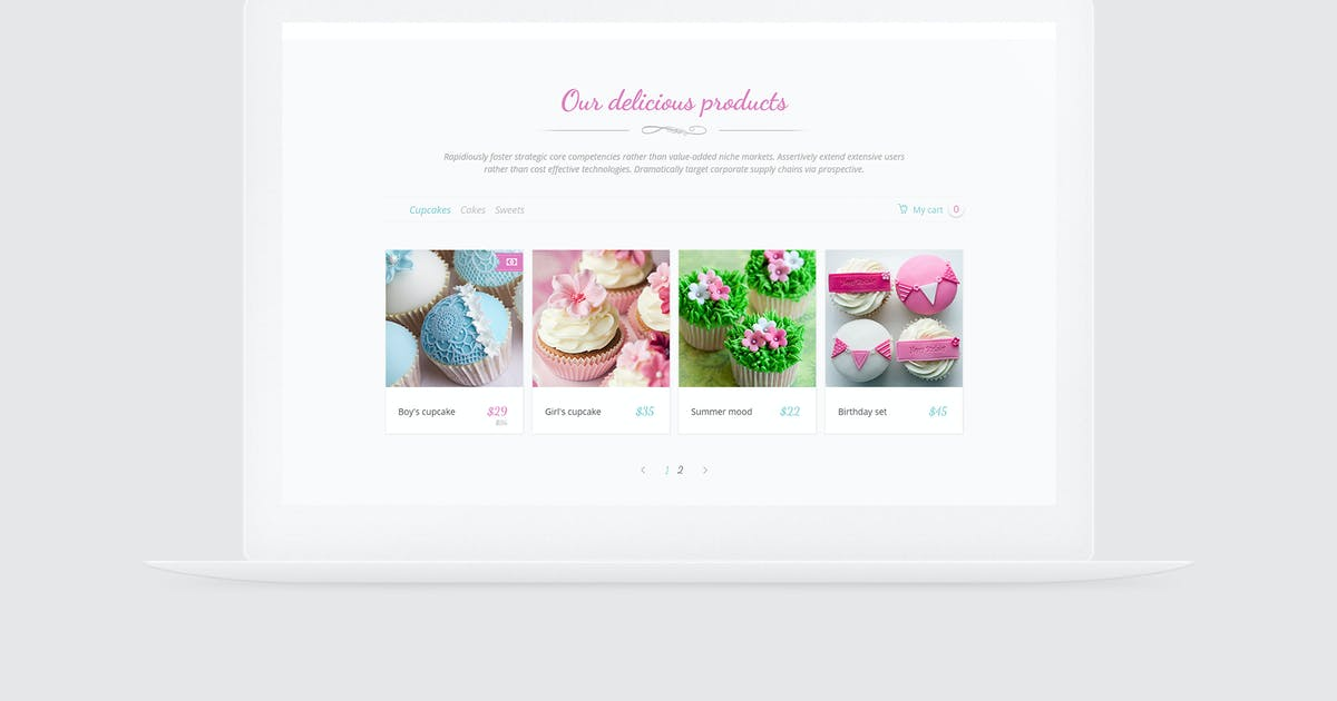 Download Paradise Cakes - Sweet eCommerce Landing Page by vsart