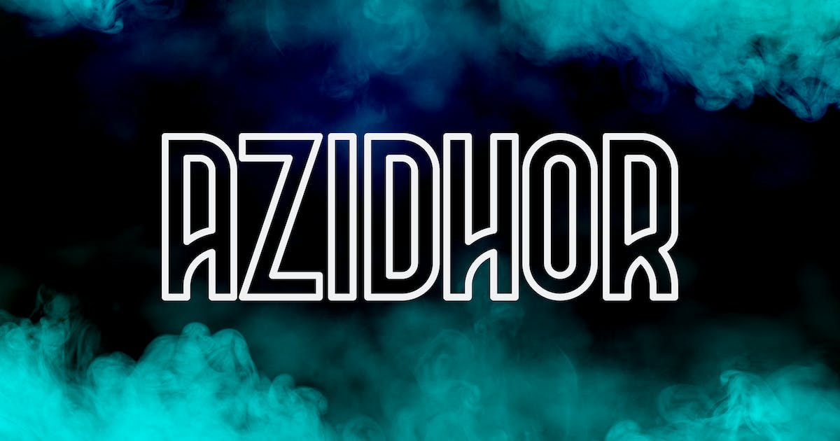 Download Azidhor typeface by Scredeck