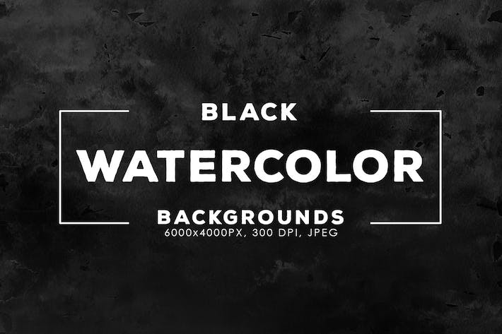 Thumbnail for Black Watercolor Backgrounds
